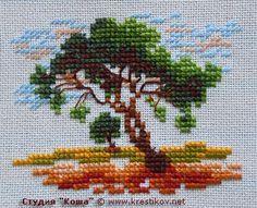 "Scheme ""Lonely Tree""   cross-stitch from the studio ""Kosh"""