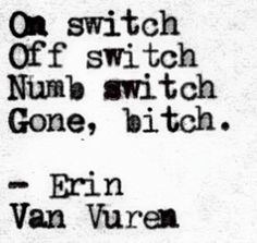 I love Erin Van Vuren. She is my spirit writer.