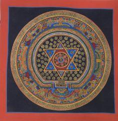 Original Star Mandala Thangka Painting from Nepal by Nanjandu2, $30.00