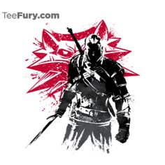 The Witcher Sumi-e   TeeFury