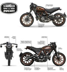 Visit a handful of my best builds - specialized scrambler hybrids like Cool Motorcycle Helmets, Retro Motorcycle, Cool Motorcycles, Ducati Scrambler Urban Enduro, Moto Ducati, Motos Retro, Cafe Racing, Classic Bikes, Bike Design