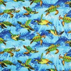 Amazon.com: Timeless Treasures Snorkeling Sea Turtles Blue, 44-inch Wide Cotton Fabric Yardage: Arts, Crafts & Sewing
