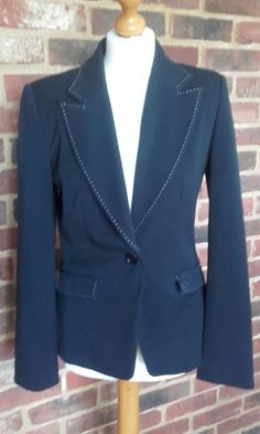 Ex Marks and Spencer bustier Tweed Blazer Jacket Taille 12