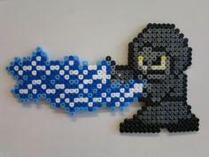 Star Wars - Emperor Palpatine (Mega Man style) perler beads by Björn Börjesson Pearler Bead Patterns, Perler Patterns, Pearler Beads, Mega Man, Loom Beading, Beading Patterns, Filet Crochet, Starwars, 8 Bits