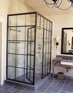glass window shower