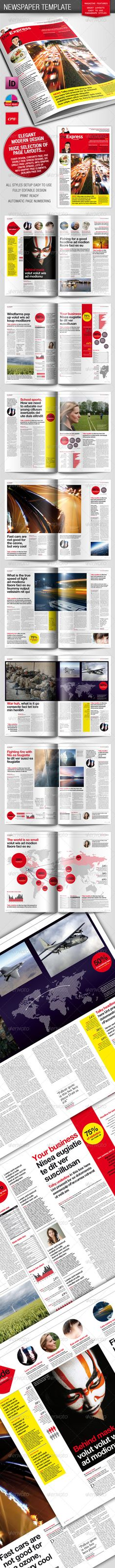Broadsheet Newspaper Template | Newspaper Design | Pinterest