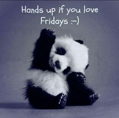 Mi vidoooo! Hands up if you love friday quotes coffee friday panda tgif days of the week friday love