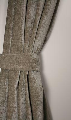 Julia Grijs - Mooie gordijnen met geweven structuur en semi ...