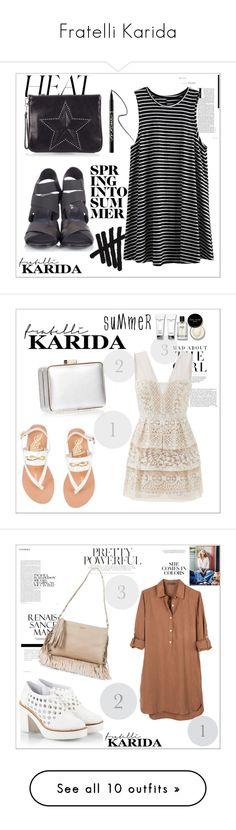 """Fratelli Karida"" by fashion-addict35 ❤ liked on Polyvore featuring Fratelli Karida, Ash, tarte, Ancient Greek Sandals, Coccinelle, Kershaw, BCBGMAXAZRIA, Bobbi Brown Cosmetics, Miista and Tosca Blu"