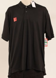 IZOD SHIRT PERFORMANCE POLO BLACK SZ L #IZOD #PoloRugby