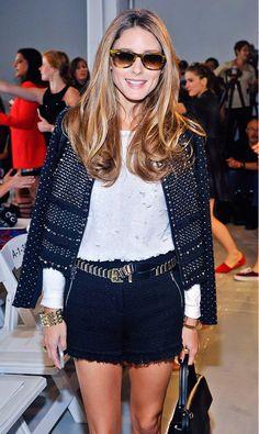 Olivia Palermo et sa fameuse ceinture fine