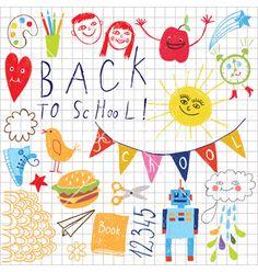 Back to school pattern vector on VectorStock®