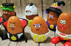 McDonalds Chicken McNuggets-Nugget toys-Halloween McDonald nuggets-Set of 7…