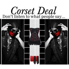 """Don't listen to what people say..."" Octavia Gothic Corset http://www.corsetdeal.com/Octavia-Gothic-Corset_p_3634.html Your Price:$108.29 Retail Price:$138.29 Desiree Lace Tu Tu Skirt http://www.corsetdeal.com/Desiree-Lace-Tu-Tu-Skirt_p_2733.html #corsetdeal #corset #waisttrainingcorset"