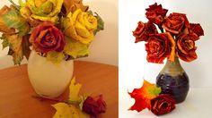Kvety z jesenných listov sú jednoduché a očarujúce