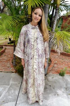 Vintage Robe Women's Long Robe by starstyles on Etsy