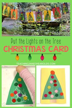 Put together a toddler Christmas card activity that also works fine motor skills as bright and cheerful felt circles are pressed onto a paper tree. Attach it to a handmade gift as a special touch! #Christmas #card #art #toddlers #preschool #2yearolds #3yearolds #teaching2and3yearolds Christmas Activities For Toddlers, Activities For 2 Year Olds, Winter Activities, Craft Activities, Preschool Crafts, Preschool Ideas, Kid Crafts, Teaching Ideas, Toddler Art