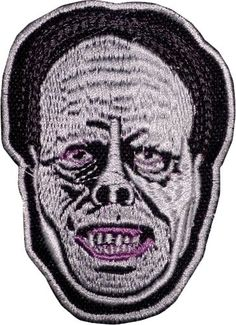 Phantom Of The Opera Embroidered Patch Lon Chaney Horror Movie Universal Monster