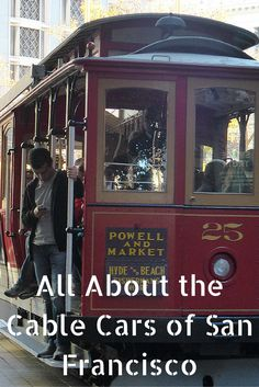 The Cable Cars of San Francisco are synonymous with this fascinating city. #travel #SanFrancisco #cablecars