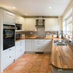 Cranbrook - Platinum Kitchen Oak Block worktop
