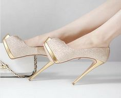 Champagne Heels For Bridesmaids Saw Them At Nordys And They Are Gorge