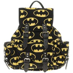 Lazy Oaf Batman Backpack ❤ liked on Polyvore