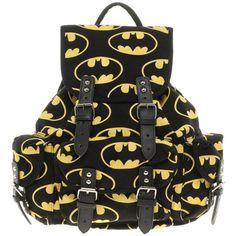 Lazy Oaf Batman Backpack (110 NZD) found on Polyvore