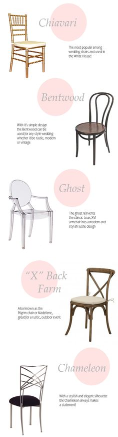 Top Five wedding chairs via Coastal Bride #weddingchairs