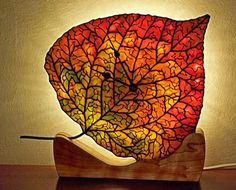 Aspen Leaf stained glass