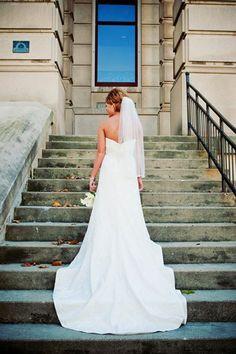 <3 Our Wedding   #wedding #train #dress #bride