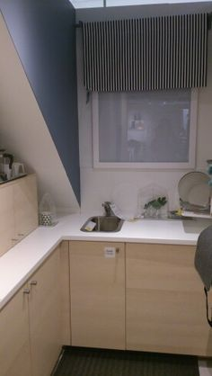 IKEA Metod/Haganas units (white/birch) and Saljan worktop (white)