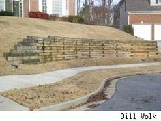 Building a pressure-treated timber wall - good pointers for a 6x6 wall ...