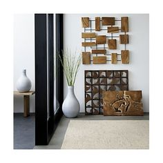 Marcel Teak Wall Art + Reviews | Crate and Barrel