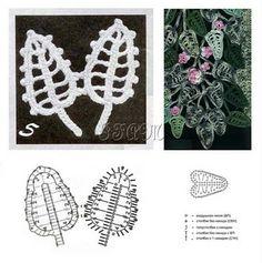 Ivelise Feito à Mão: Folhas! Motivos Lindos.... crochet leaf pattern