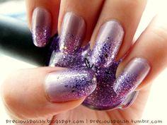 Purple base w/ purple glitter.