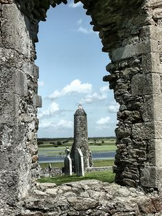"https://flic.kr/p/QgGrs4 | You've Been Framed | Clonmacnoise, Ireland.  Clonmacnoise (Irish: Cluain Mhic Nois, ""meadow of the sons of Nos"") is a monastic site overlooking the River Shannon in County Offaly. The extensive ruins include a cathedral, castle, round tower, numerous churches, two important high crosses, and a large collection of early Christian grave slabs.  #Architecture #Colour #Photography  www.richardsugden.com  © Richard Sugden 2016 All rights reserved."