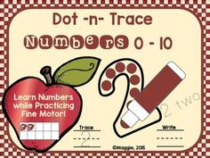 This quick to print and setup center has the much needed fine motor practice for forming and recognizing numbers 0-10.  Just place in the center with bingo daubers and let the fun begin!