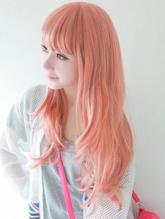 Orange peach dyed hair