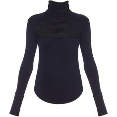Isabel Marant Hess merino-wool blend roll-neck sweater (6 630 SEK) ❤ liked on Polyvore featuring tops, sweaters, shirts, navy, merino wool shirt, merino sweater, blue shirt, isabel marant sweaters and isabel marant shirt