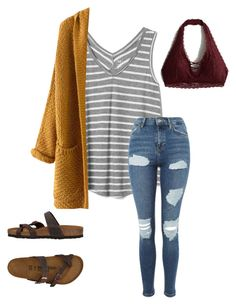 """Untitled #51"" by faithjones1223 on Polyvore featuring Gap, Birkenstock and Hollister Co."