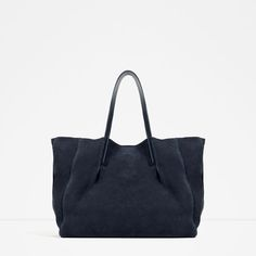 Image 1 of LEATHER TOTE from Zara