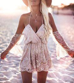 V neck Sequins lace Jumpsuits,women outfits