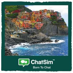Jess L. from Italy: Bright colors on crystal clear waters. Cinque Terre, a unique landscape! Shared with ‪#‎ChatSim‬ App used: WeChat - Credit used: 15 (photo size 150 KB)