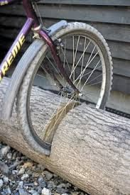 diy natural outdoor bike rack stand - Google Search