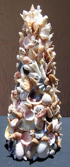 Sea Shell Art Tree Home Decoration 9 inches tall by Bonnie1025, $30.00