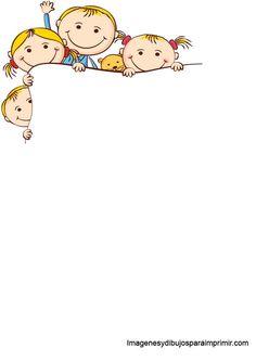 Folios con niños para imprimir-Imagenes y dibujos para imprimir