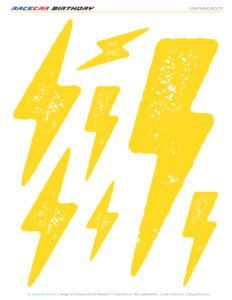 Free printable lightning bolts