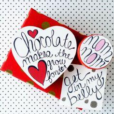 Printable Valentine's Chocolate Box Covers -Whimseybox