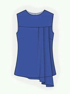 ideas sewing patterns blouse pockets for 2019 Sewing Blouses, Sewing Shirts, Blouse Patterns, Blouse Designs, Skirt Patterns, Coat Patterns, Clothes Patterns, Mode Batik, Shirt Collar Pattern