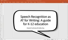 How to Use Speech Recognition for Writing on Vimeo